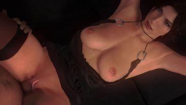Lara Croft Fucked on Couch