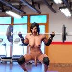 Futa Pharah Doing Squats