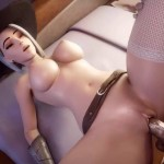 Ashe Fucked Missionary on bed