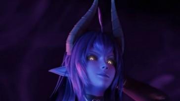 Blue Daemon Succubus Girl Titties