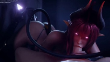 Daemon Girl Blowjob POV
