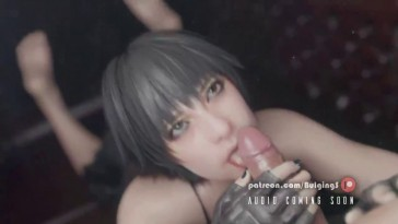 Lady Awesome Blowjob and Cum Swallow
