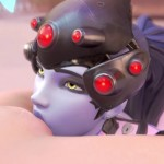 Widow licks and eats Tracer Pussy