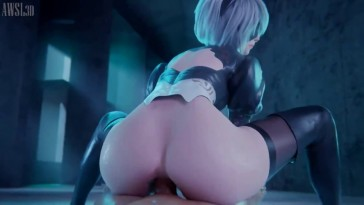 2B Thicc Ass Reverse Cowgirl Anal