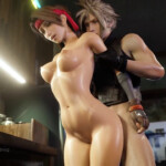 Jessie gets fucked by Cloud at the bar