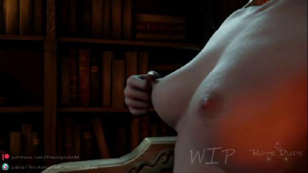 Triss pleasuring herself