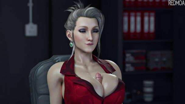 Cumming on Scarlet Boobs