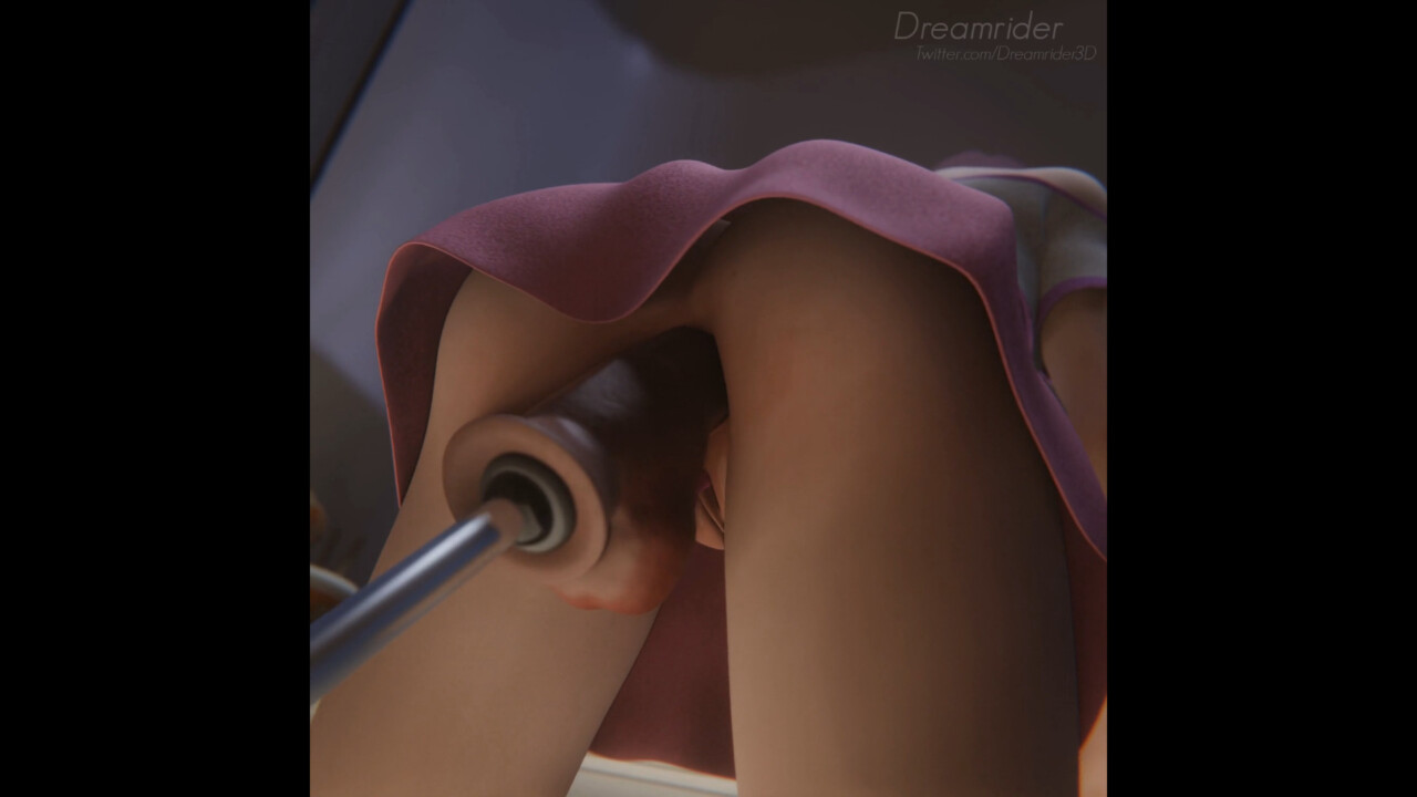 D.va with vibrator and dildo in her