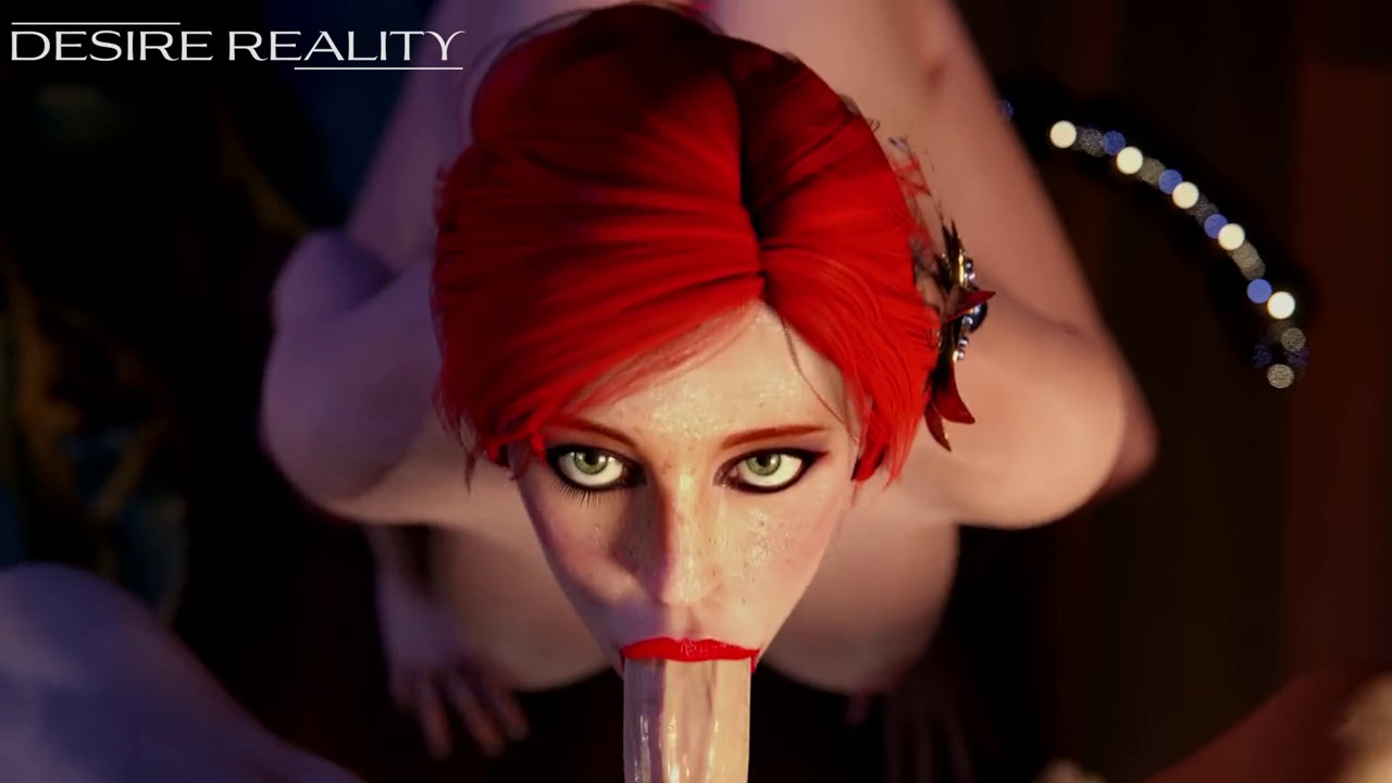 Triss gets cum all over her face