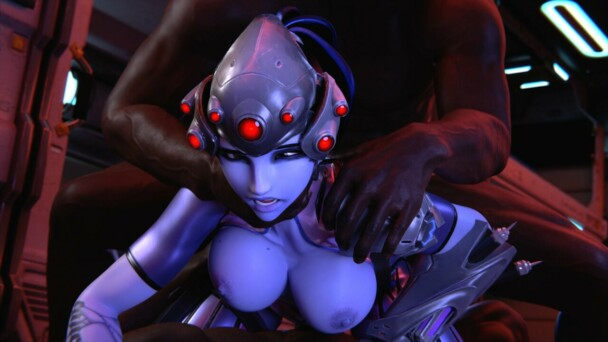 Widowmaker double pentrated by bbc